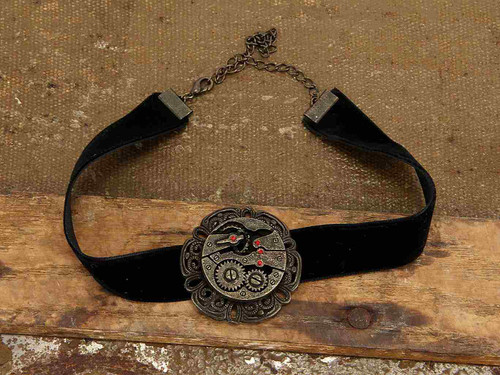 Black Antique Gear Choker