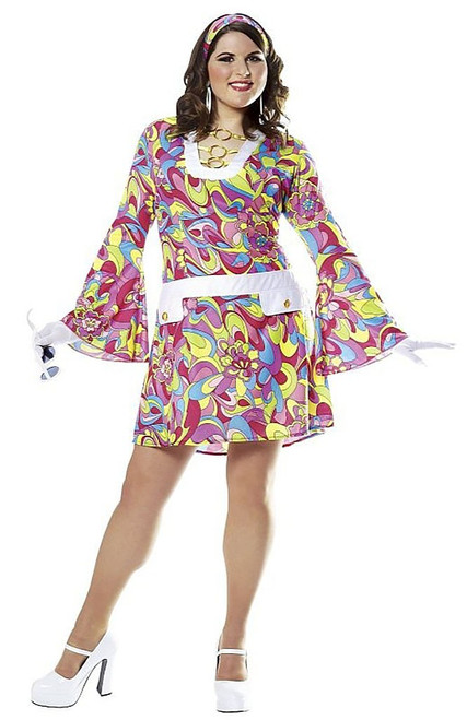 Coloful 70s Groovy Costume