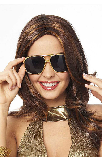 70's Style Gold Sunglasses