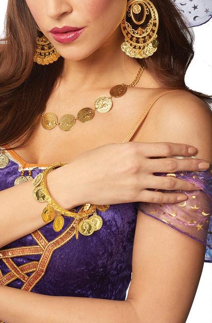 Gold Gypsy Coin Bracelet