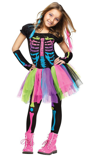 Funky Punk Skeleton Girl