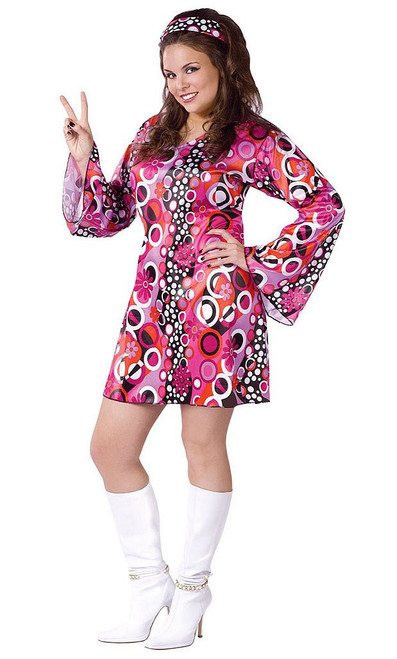 60's Womens Costume Plus Size