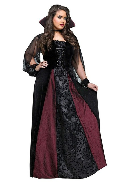 Goth Maiden Vamp Plus Costume