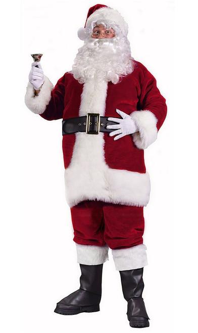 Regency Plush Crimson Santa Suit Costume