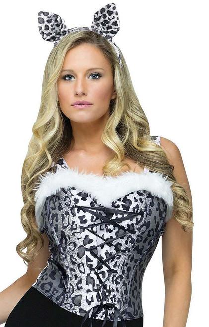 Snow Leopard Corset