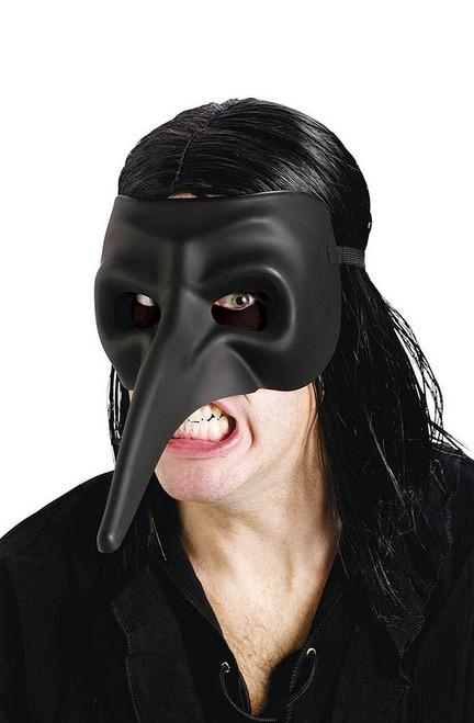 Venetian Raven Black Mask