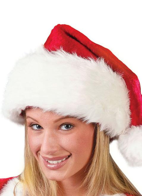 Regency Plush Santa Red Hat