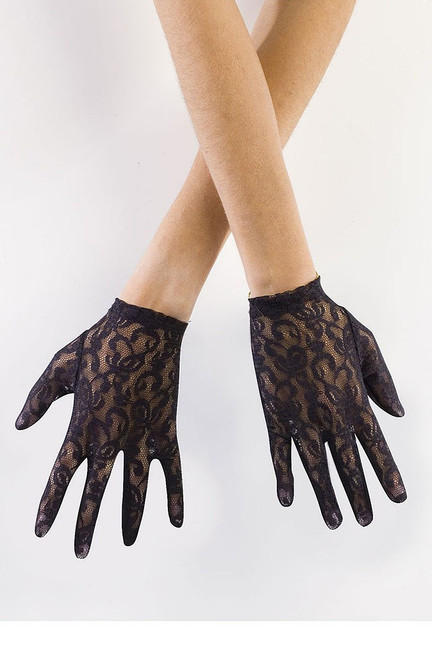 Black Lace Adult Gloves