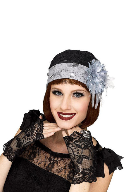 Flapper Grey Cloche & Glove