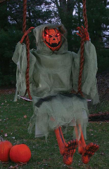 "Pumpkin Swinging Decor 36"""