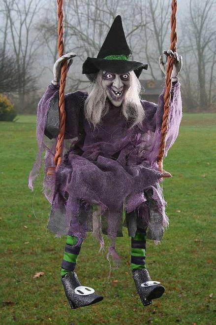 "Witch Swinging Decor 36"""