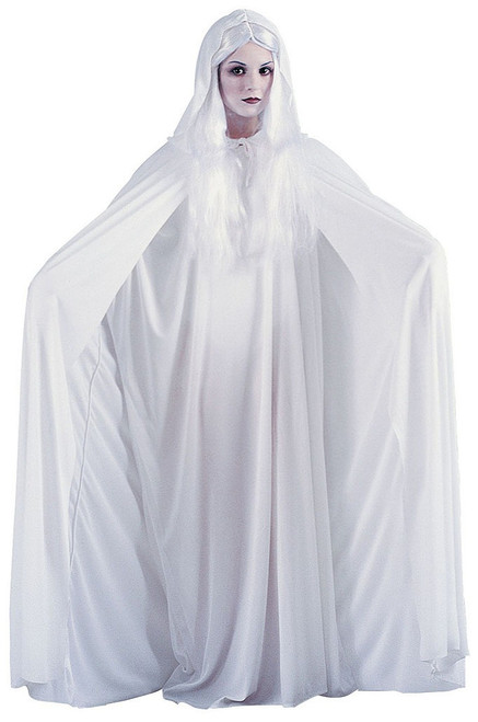 "68"" Hooded White Cape"