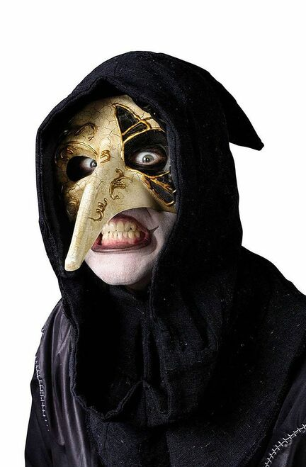 Venetian Ivory Raven Mask