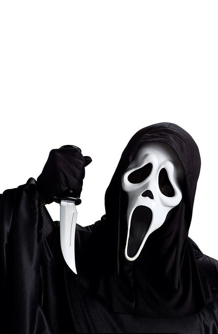 Scream Ghost Mask with Knife