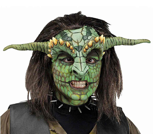 Fantasy Head Reptoid Half Mask