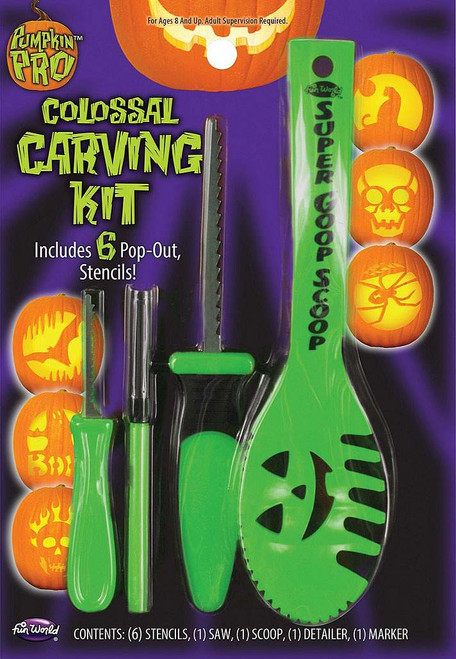 Pumpkin Carving Kit Green