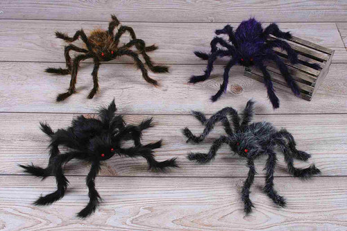 "30"" Posable Hairy Spider Decor"