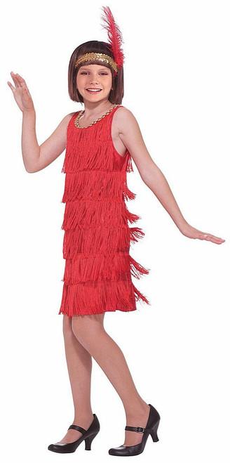 Red Flapper Girls Costume