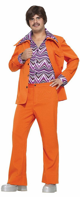 70's Orange Leisure Suit