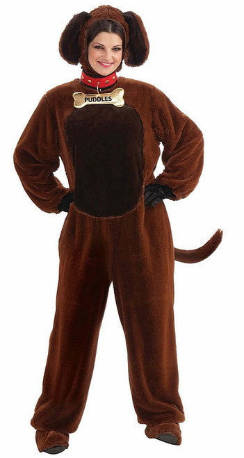 Plush Dog Costume for Adults