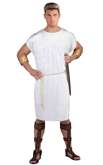 Mens Roman White Tunic