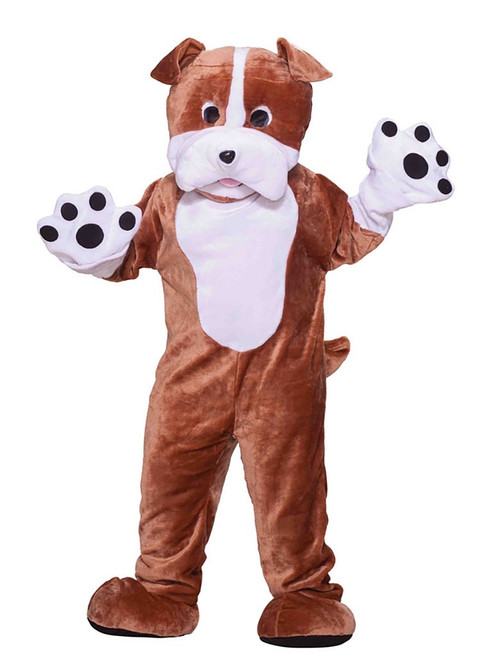 Plush Bull Dog Mascot Costume