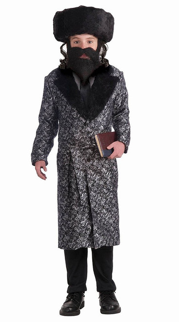 Silver Rabbi Robe Boy Costume