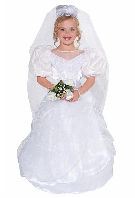 Girls Wedding Dress Costume