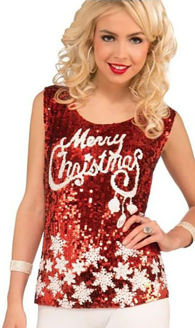 Racy Red Merry Christmas Top