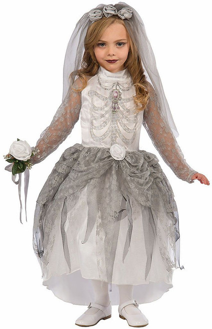 Skeleton Bride Girl Costume