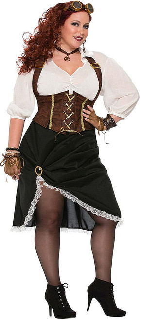Steampunk Lady Plus Costume
