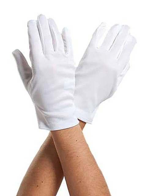White Adult Gloves