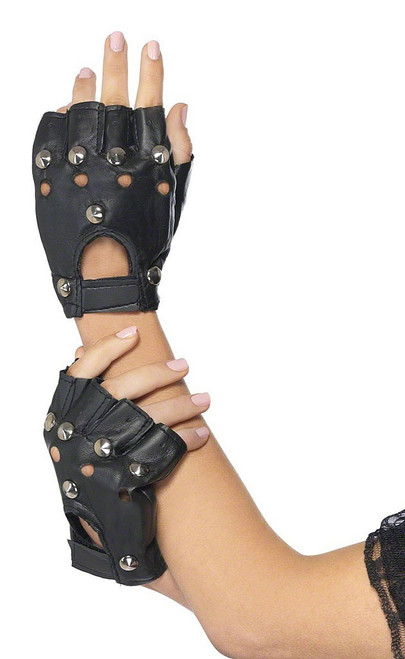 Studded Punk Adult Gloves