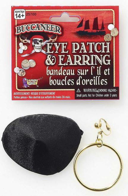 Pirate Eye Patch & Earring Set