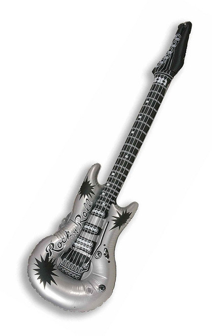 Inflatable Guitar Silver