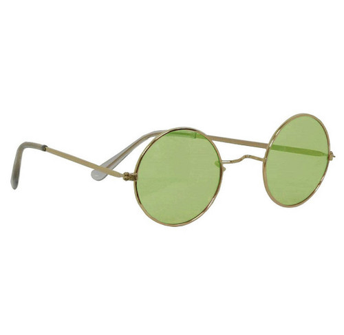 Tinted Green Glasses Hippie