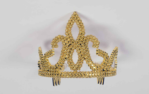 Tall Gold Jeweled Tiara