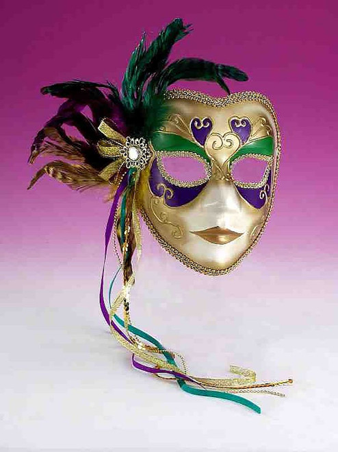 Gold Colorful Masquerade Mask