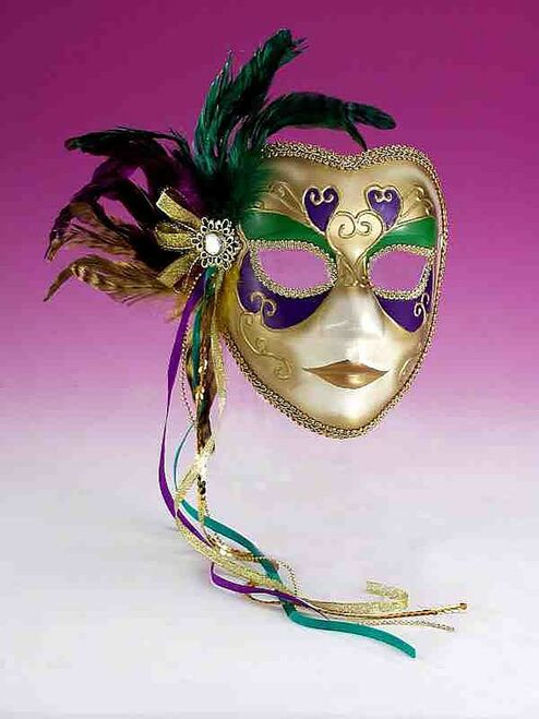 Gold Colorful Masquerade Mask