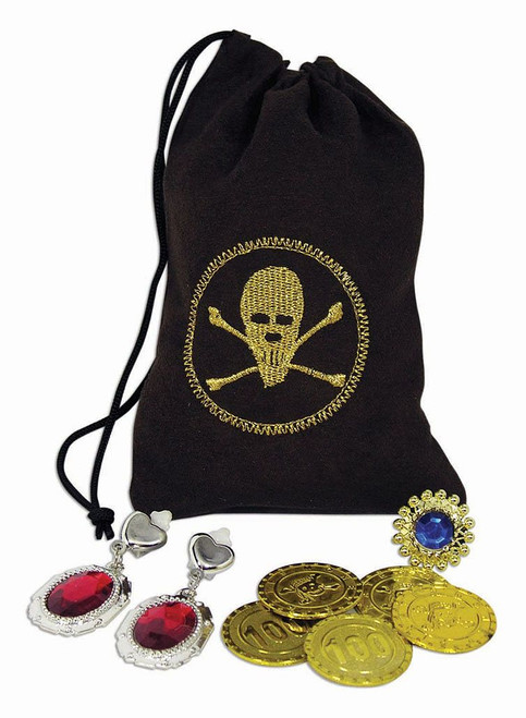 Pirate coins jewelry pouch kit