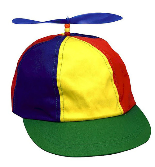 Multicolored Propeller Beanie Hat