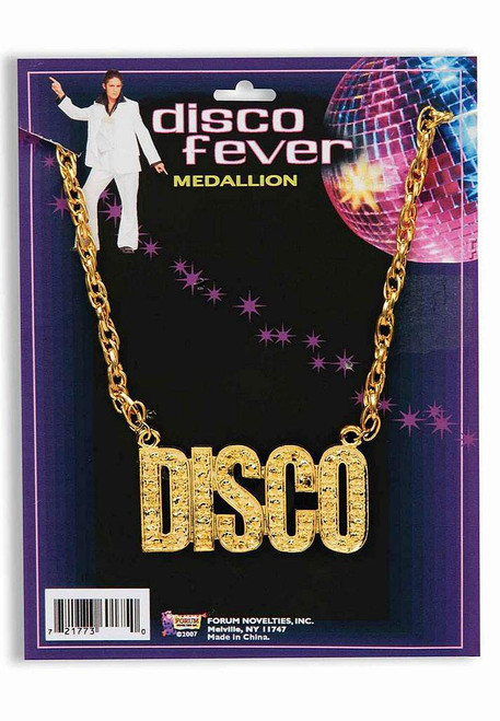 "70's ""Disco"" Gold Necklace"