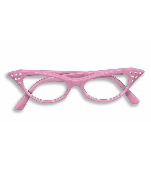 50's Rhinestone Pink Glasses