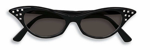 Rhinestone 50's Black Sunglasses