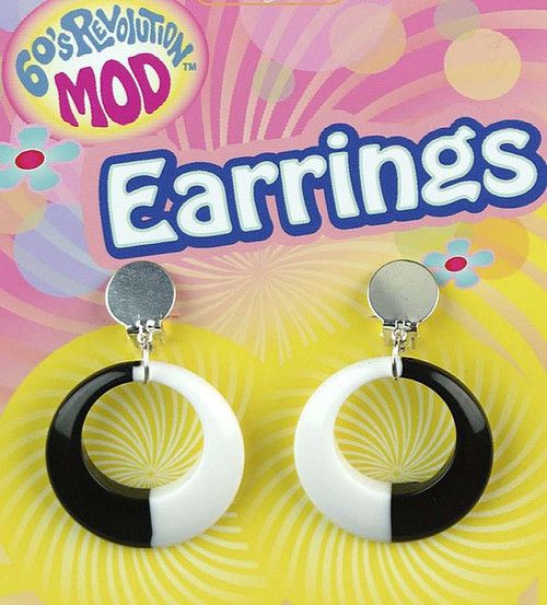 Black and White 60s Mod Earrings