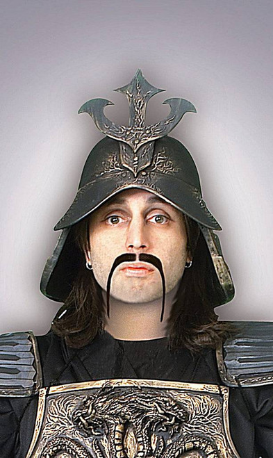 Warrior Moustache Black