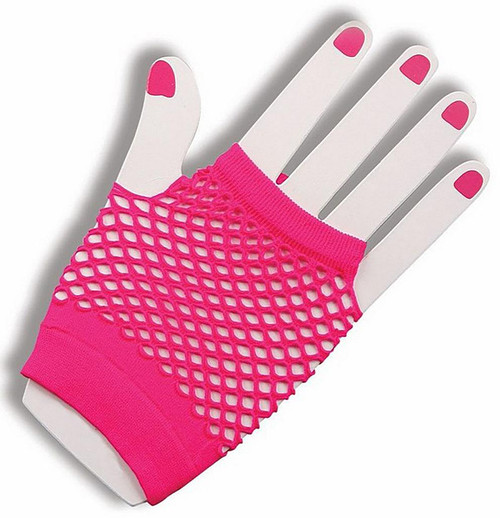 Fingerless Pink 80s Glove