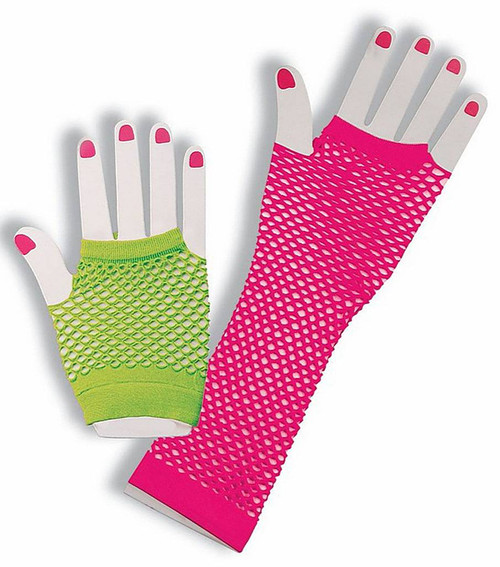 Fingerless Fishnet Glove Set