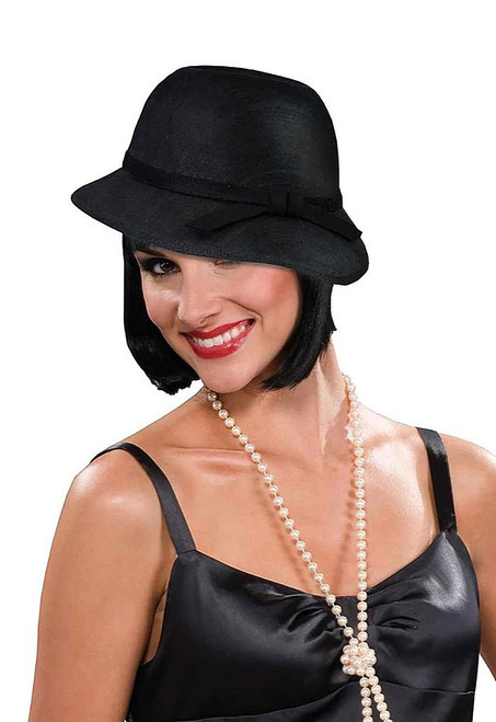 Flapper Hat Black