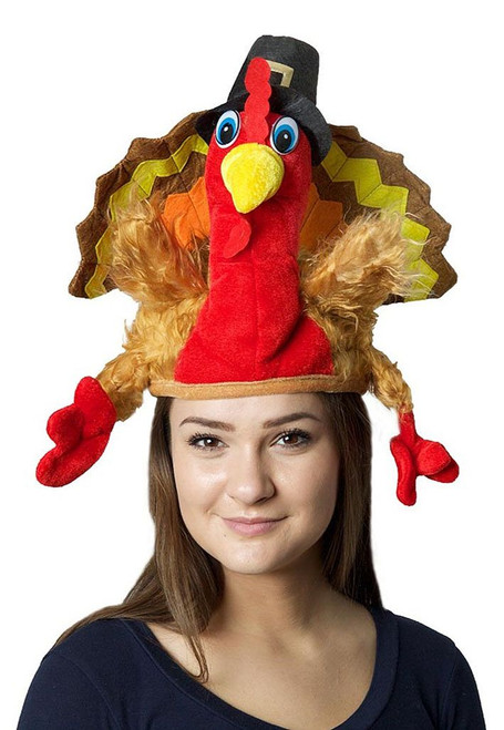 Adult Plush Turkey Hat